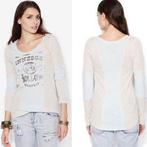 We The Free People Tennessee Hollow Distressed Top